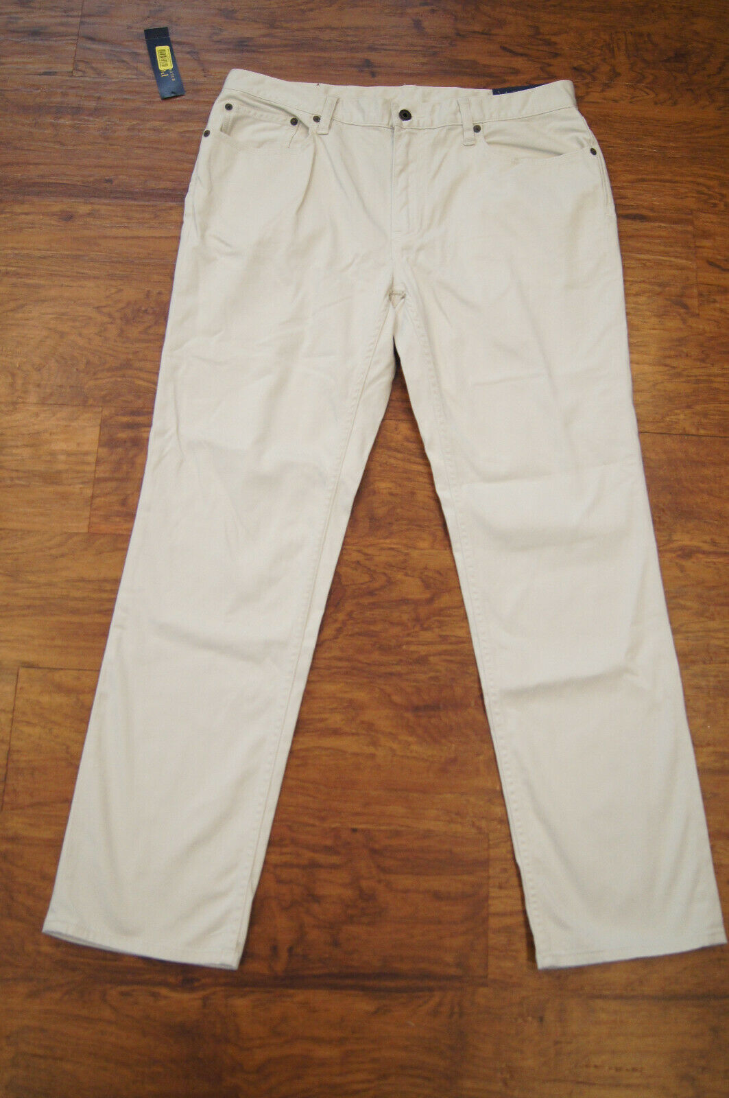 Ralph Lauren Polo Mens size 33 X 30 Stretch Straight Fit New Stone Pants NWT