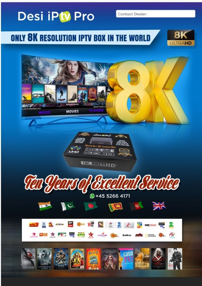 8K Indian & Pakistan Desi IPTV Box