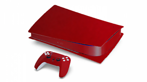 MATTE METALLIC CANDY RED VINYL WRAP/SKIN FOR PS5 PLAYSTATION *DISC VERSION*