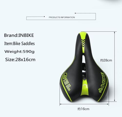 INBIKE Bike Saddle Seat Breathable Hollow Road Gel  Bicycle Cycling Cushion Pads