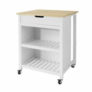 Sobuy Penisola Cucina Piano Di Lavoro Per Cucina Legno Bianco Fkw74 K Wn It Ebay