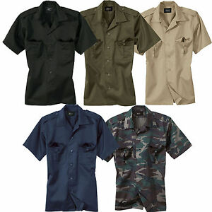 US-Hemd-kurzarm-S-9XL-Diensthemd-Army-Security-Freizeithemd-Worker-Shirt-halbarm