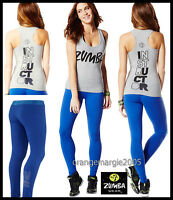 Zumba Instructor 2pc.set Racerback Top Tank Classic rock With Me + Leggings