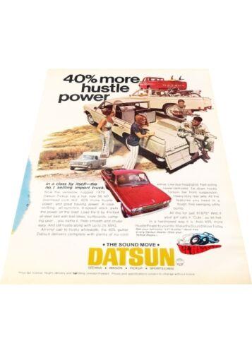 Vintage Advertisement Car Print Ad J401 1970 Datsun Pickup truck