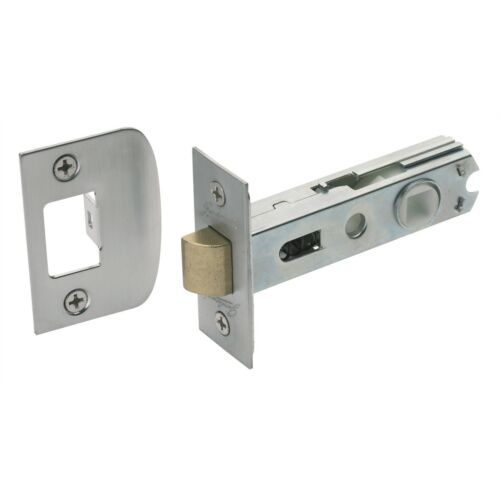 Gainsborough 60mm Brushed Chrome Soft Close Tubular Latch 480BCS