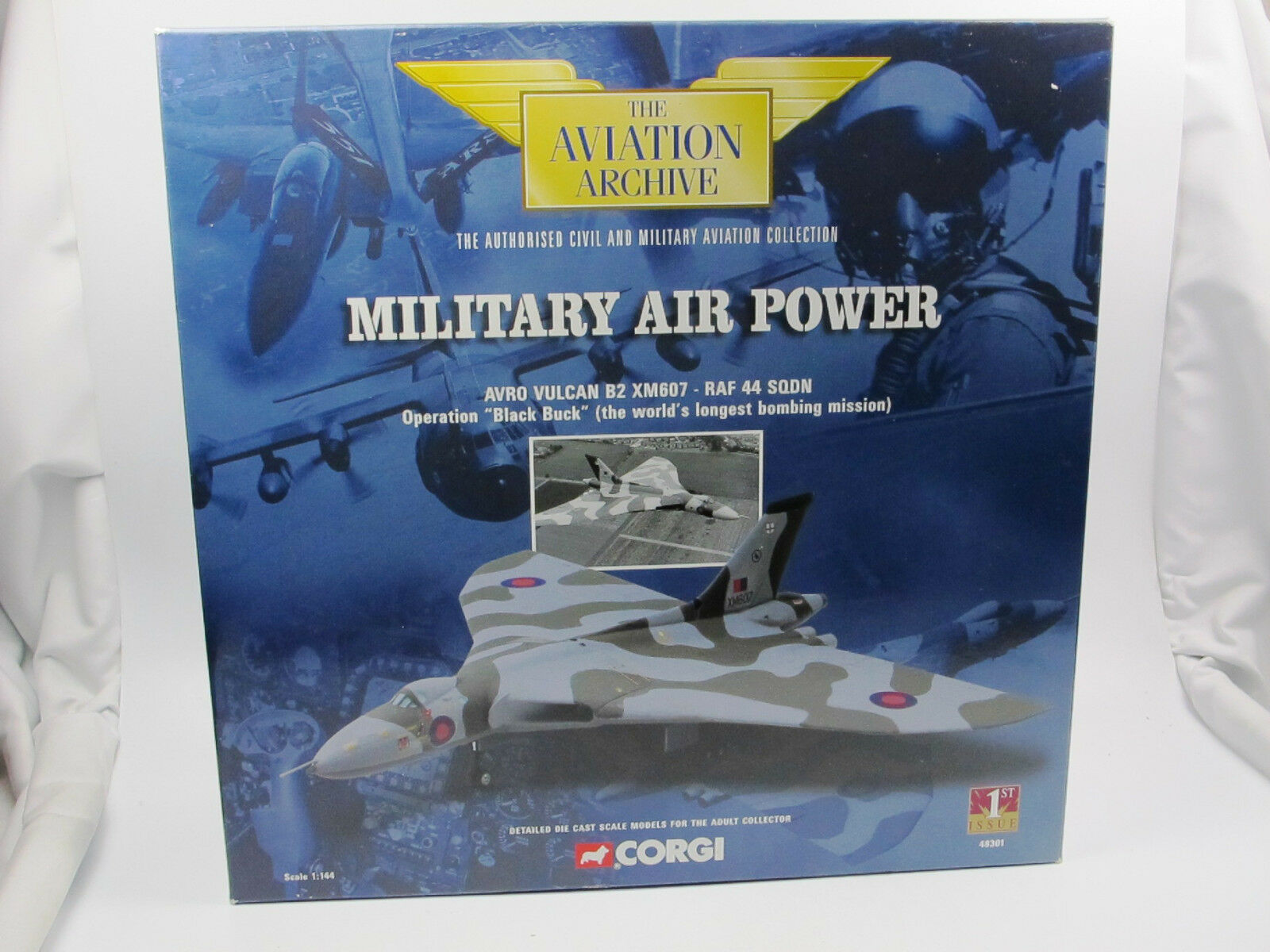 Corgi 48301-Avro Vulcan b2 xm607-raf 44 Sqdn-Operación nero Buck 1 144