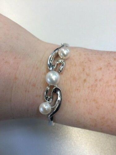 925 Brazalete de plata y de agua dulce perla