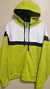 Dakine-Full-Zip-Hoodie-Sweater-Lime-Green-White-Black-Men-039-s-Medium