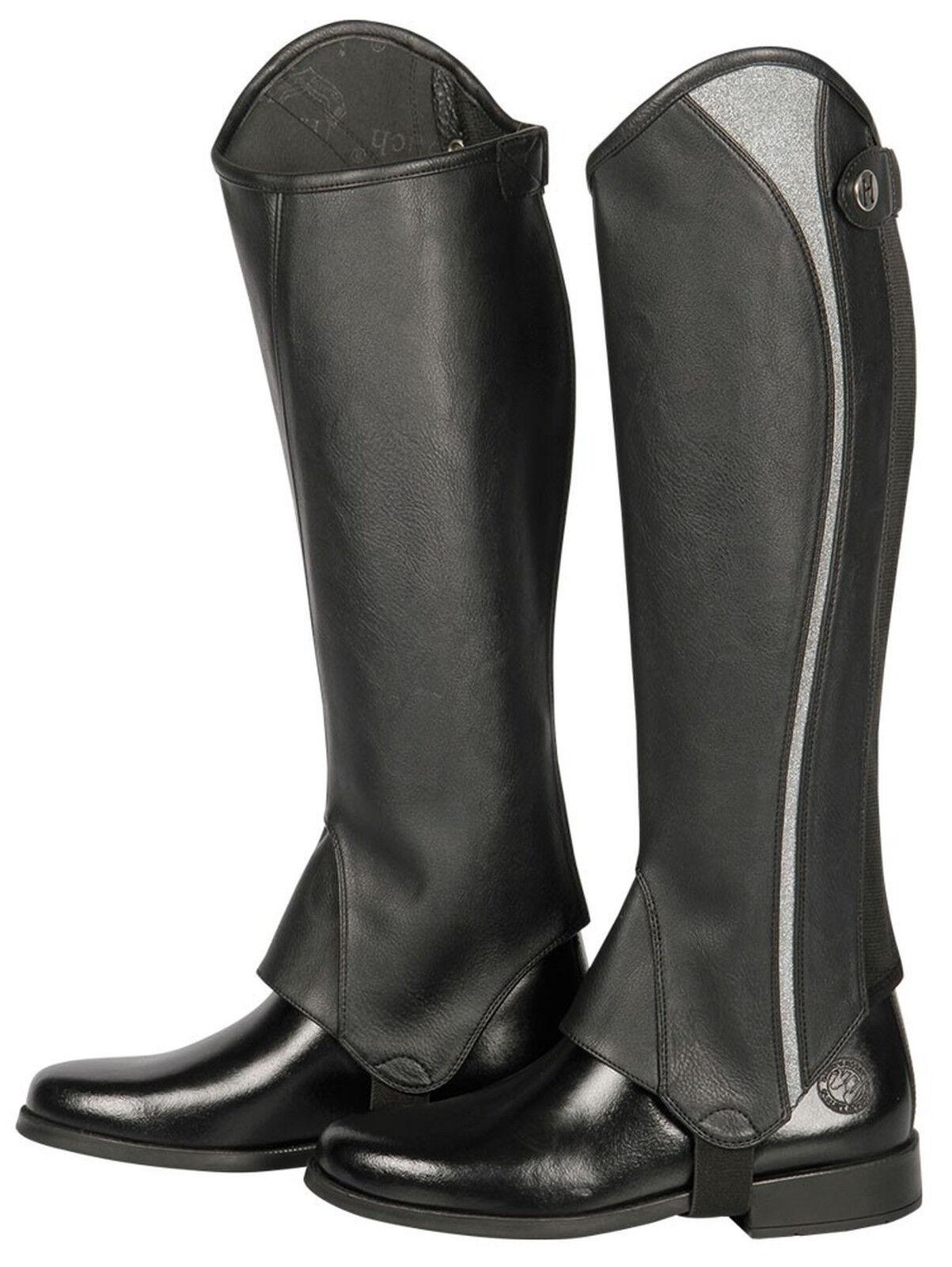 Harry's Horse Luxus Stiefelschaft Minichaps Palermo black Glitzer-Dekor