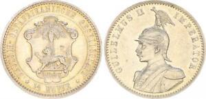 German East Africa Doa 1/2 Rupee 1897 Xf-Bu / Prfr. (47925)