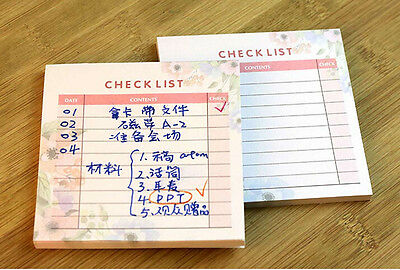 Mini Work Study Check List Journal Schedule Planner Memo NotePad Note Paper Pad
