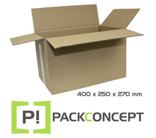 Faltkarton 1-wellig 400 x 250 x 270 mm; Karton; Pappkarton; Versandkarton Nr.