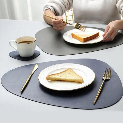PU Tischset Wasserdicht Platzdeckchen Platzset Tischmatten Platzmatten Kochen DE