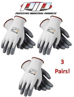 12 x MaxiFoam 34-800 Nitrile Foam Palm Coated Nylon Safety Work Gloves
