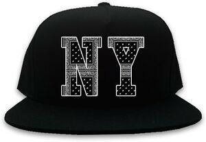 0d8cbc5b7 Kings Of NY New York NYC Bandana Printed Snapback Black Baseball Cap ...