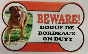 AgréAble Dogue De Bordeaux Beware Of The Dog Signe 12 Cm X 21 Cm De Nombreux Autres Pains Availal-afficher Le Titre D'origine SuppléMent éNergie Vitale Et Nourrir Yin