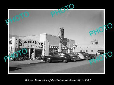 Car Dealerships In Odessa Tx >> Old Postcard Size Photo Odessa Texas The Hudson Car Dealership C1950 2 Ebay