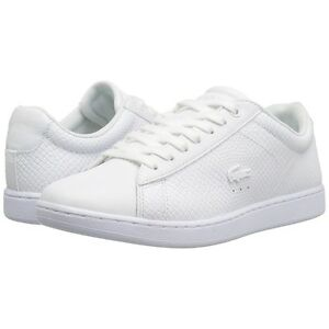 Womens Lacoste Shoes Carnaby EVO White Sneakers Casual Shoes NEW