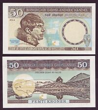 GROENLAND / DENMARK - 50 KRONER - RASMUSSEN - ESSAY - SPECIMEN - NEUF / UNC 2014