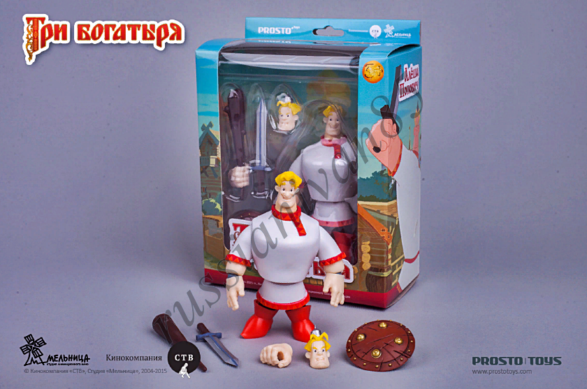 Alyosha Popovich. Three epic hero. PROSTO toys. Figure 12 cm.