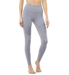 Alo Yoga High Waist Moto Legging Blue Haze Size Xs Ebay