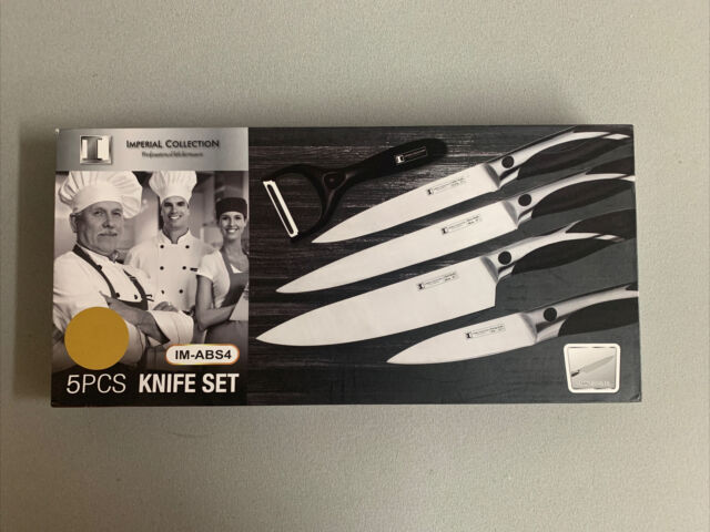 Hullr 5 Piece Ultra Premium Stainless Steel Kitchen Knife Set W Tempered Glass For Sale Online Ebay