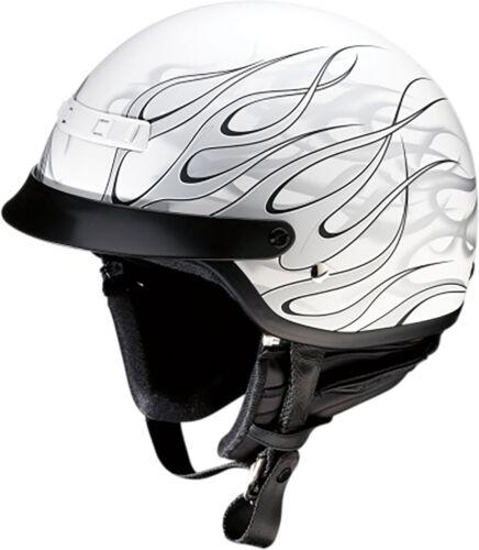 Z1R Nomad 1//2 Face Helmet Matte Hellfire Adventure Motorcycle DOT Mens Womens
