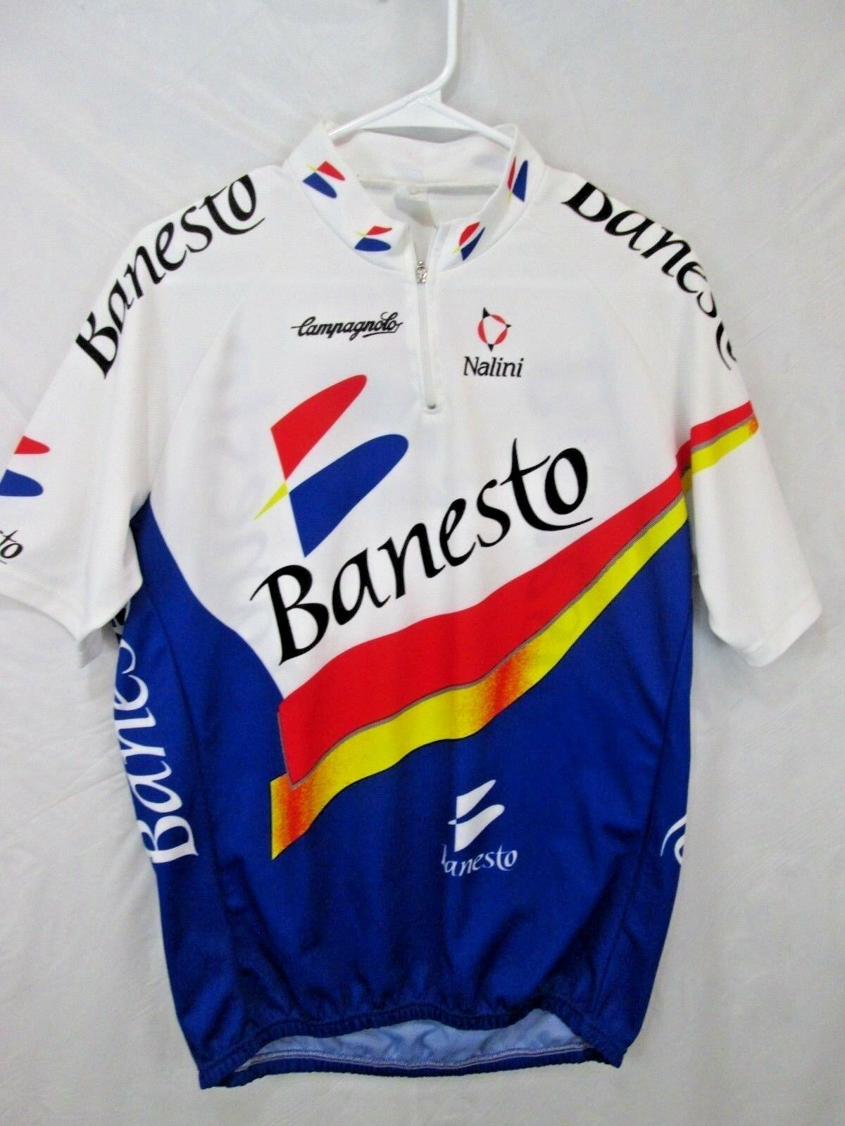 Vintage Banesto Cycling Jersey Size 7 Made in  Campy