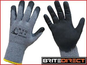 120 Pairs Size M L Best Rxg Work Gloves Heavy Duty Latex Coat Safety