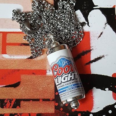 Unique RED STRIPE NECKLACE jamaica LAGER beer CAN pub MINIATURE drink COOL!