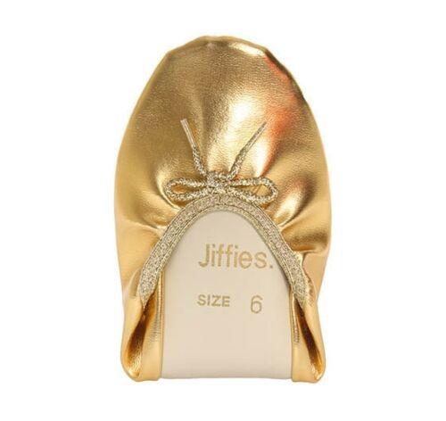 GENUINE Womens Grosby Jiffies BALLET//DANCE//SOFT//FLAT//SLIPPER SHOES GOLD flats