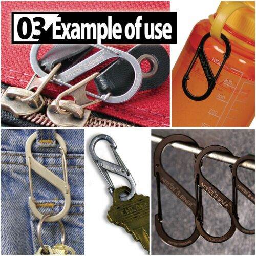Nite Ize S-Biner Size 2 Durable Carabiner Stainless