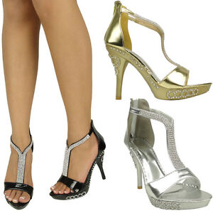women sandals rhinestones tstrap evening platform high