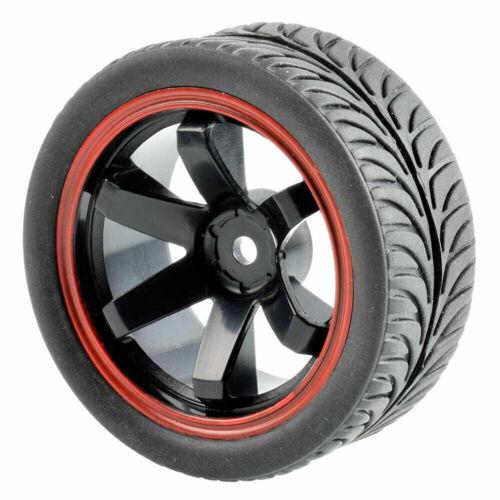 1//10 Rc Onroad Wheels Tires Set for Traxxas 4tec Kyosho Pureten Fazer Fw05 Fw06