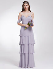 009d09bfde1 Ever-Pretty Long Ruffles Bridesmaids Dresses Cold Shoulder Wedding Gown  07202