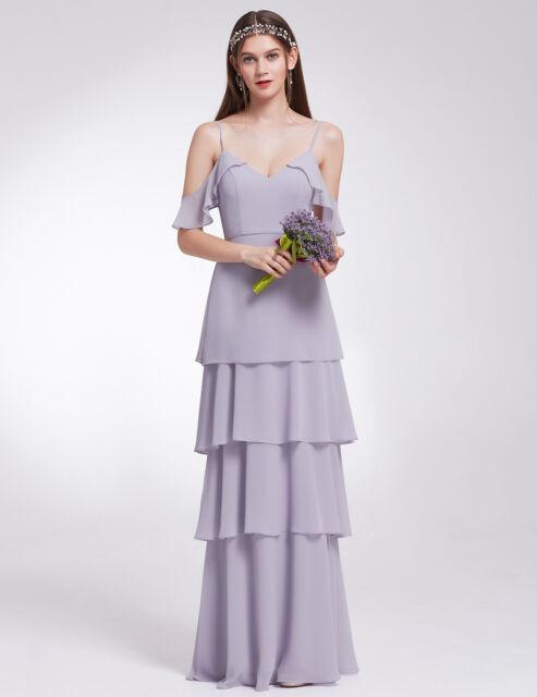 2f8e1a0b Ever-Pretty UK Long Ruffles Chiffon Bridesmaids Party Dresses ...