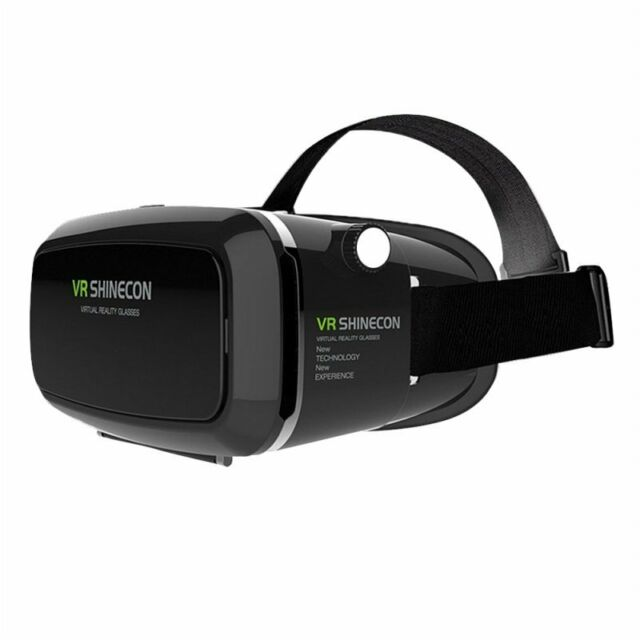 SHINECON 3D VR Glasses, 3D VR Headset Virtual Reality Box with Adjustable L O5C6