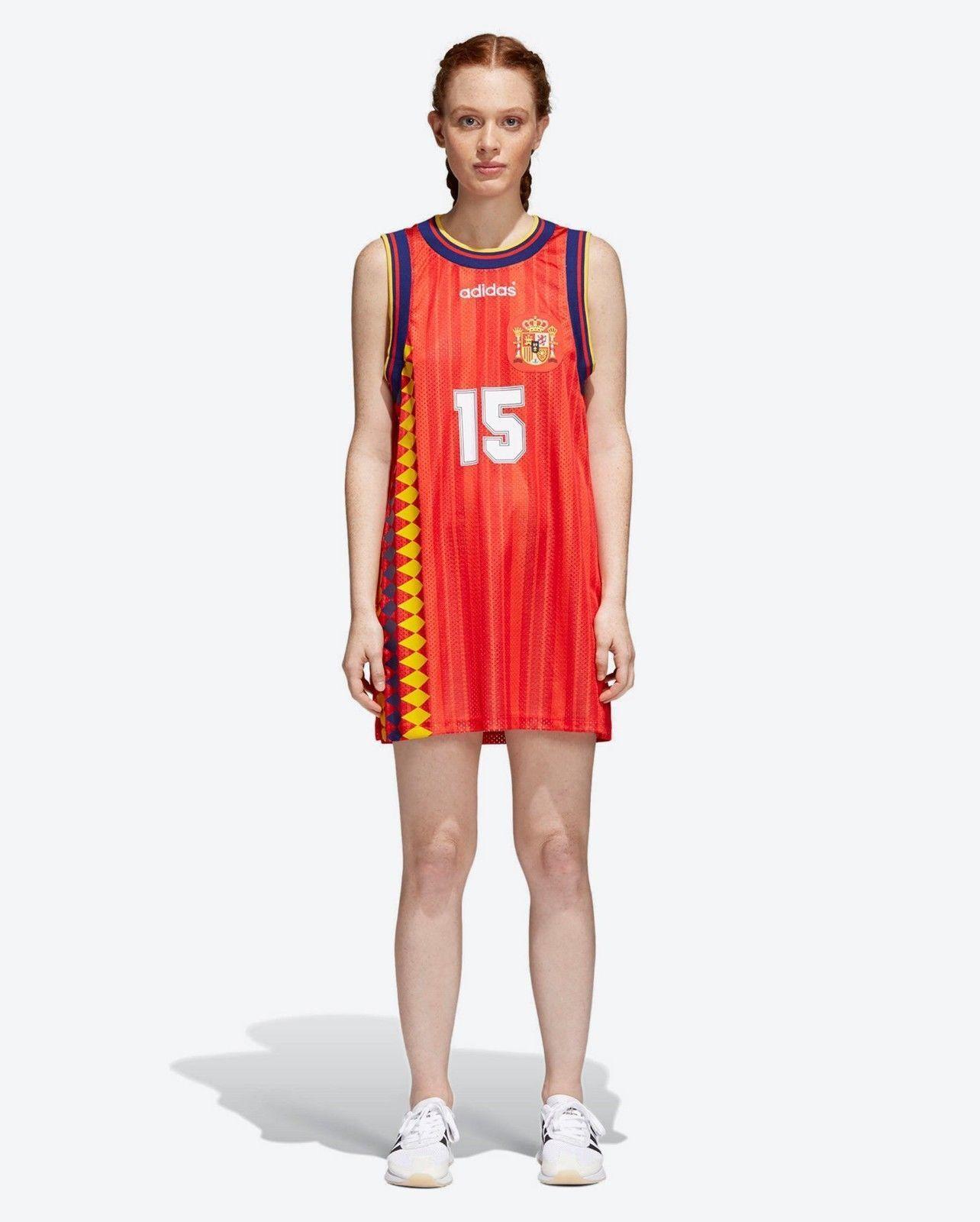 Adidas Woherren Spain Tank Top-Dress World Cup Football Sergio Ramos-CE2311 SMALL