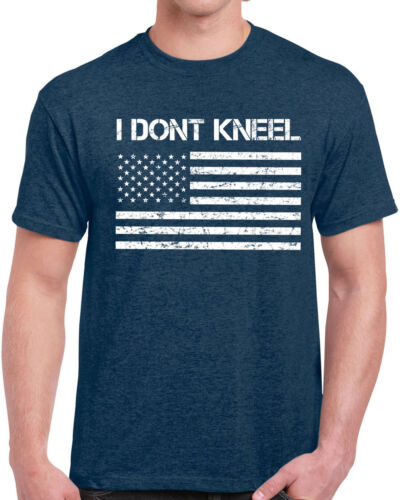 637 I Don/'t Kneel mens T-shirt america USA veteran patriot anthem flag national