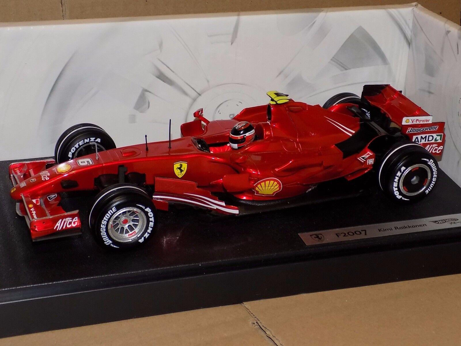 Ferrari F2007 Kimi Raikkonen 2007  6 HOTWHEELS N4658 1 18