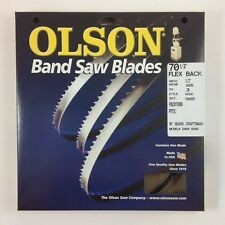 """Olson Band Saw Blade 70-1/2"""" x 1/2"""", 3TPI for 10"""" Craftsman 21400 & others, USA"""