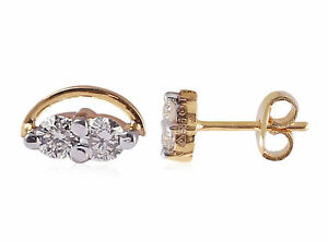 Classy-0-22-Cts-Natural-Diamonds-Stud-Earrings-In-Solid-Hallmark-18K-Yellow-Gold