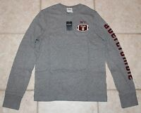 Abercrombie Boys Large Grey Long Sleeve Ny Football Muscle Fit T-shirt