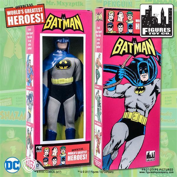 DC Comics Batman figura de 8  Extraíble Capucha Retro Con Caja De Estilo Retro Clásico