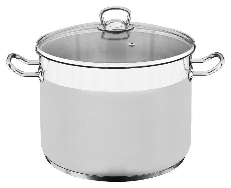 Induction casserole + Big + Incl. couvercle en verre inox inoxydable casserole pot