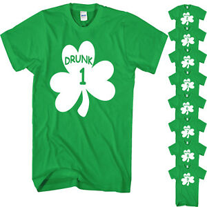 7f57abc66 St Patricks Day T Shirt Paddys Day Novelty Funny Drunk 1 To 21 Beer ...