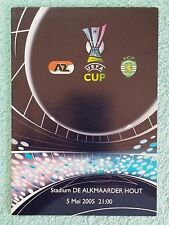 2005 - EUROPA LEAGUE SEMI FINAL 2ND LEG PROGRAMME - AZ ALKMAAR v SPORTING LISBON