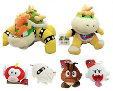 6X Super Mario Plush Goomba/Boo Ghost/Cheepap/Blooper/ Bowser Koopa/Bowser Jr