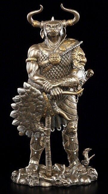 Minotaurus Figure Decorative Statue Mythology Bull's Head Mann Bronzed