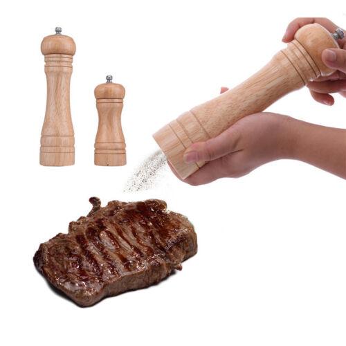 Kitchen tools cooking Salt And Pepper Grinder Hand Movement Oak Wood Pepper Mill